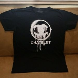 Two Angle Chatelet Black Tee Shirt - Size M